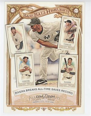 2012 Topps Allen & Ginter's Box Loader Baseball Highlights Cabinet #BH-4 - Mariano Rivera, Chris Parmelee, Michael Cuddyer, Trevor Plouffe