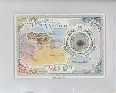 2012 Topps Allen & Ginter's Box Loader Currency of the World Cabinet #CW-29 - Venezuela /50
