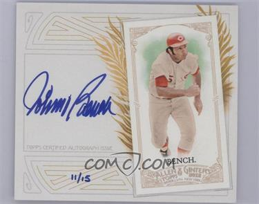 2012 Topps Allen & Ginter's Box Loader N43 Certified Autograph [Autographed] #N43A-JB - Johnny Bench /15