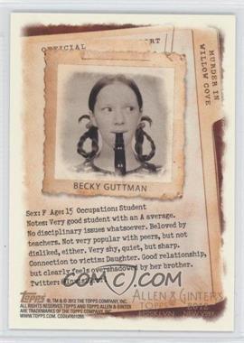 2012 Topps Allen & Ginter's Code Cards #N/A - Becky Guttman