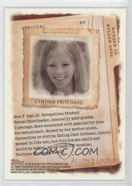 2012 Topps Allen & Ginter's Code Cards #N/A - Cynthia Pritchard