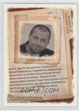2012 Topps Allen & Ginter's Code Cards #N/A - Frank Kraft