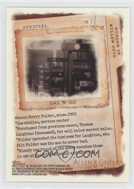 2012 Topps Allen & Ginter's Code Cards #N/A - Gas 'N' Go