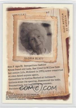 2012 Topps Allen & Ginter's Code Cards #N/A - Gloria Blatt