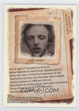 2012 Topps Allen & Ginter's Code Cards #N/A - Jake Perry