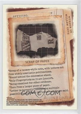 2012 Topps Allen & Ginter's Code Cards #N/A - Scrap of Paper