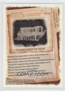 2012 Topps Allen & Ginter's Code Cards #N/A - Second Scrap of Paper