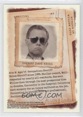 2012 Topps Allen & Ginter's Code Cards #N/A - Sheriff Dave Kring