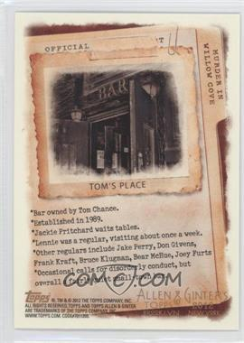 2012 Topps Allen & Ginter's Code Cards #N/A - Tom's Place