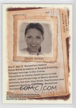 2012 Topps Allen & Ginter's Code Cards #N/A - Trudy Givens