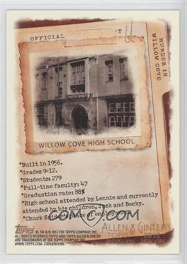 2012 Topps Allen & Ginter's Code Cards #N/A - Willow Cove High School