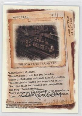 2012 Topps Allen & Ginter's Code Cards #N/A - Willow Cove Trainyard