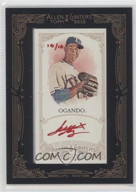 2012 Topps Allen & Ginter's Framed Mini Autographs Red Ink [Autographed] #AGA-AO - Alexi Ogando /10