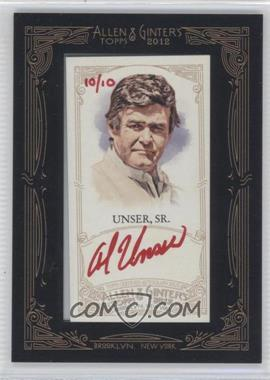 2012 Topps Allen & Ginter's Framed Mini Autographs Red Ink [Autographed] #AGA-AUS - Al Unser /10