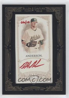 2012 Topps Allen & Ginter's Framed Mini Autographs Red Ink [Autographed] #AGA-BA - Brett Anderson /10