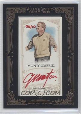 2012 Topps Allen & Ginter's Framed Mini Autographs Red Ink [Autographed] #AGA-CMO - Colin Montgomerie /10
