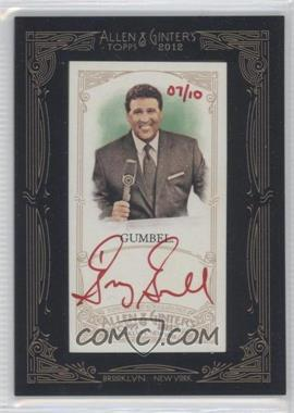 2012 Topps Allen & Ginter's Framed Mini Autographs Red Ink [Autographed] #AGA-GGU - Greg Gumbel /10