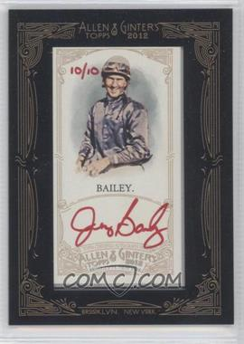2012 Topps Allen & Ginter's Framed Mini Autographs Red Ink [Autographed] #AGA-JBA - Jerry Bailey /10