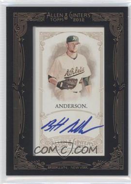2012 Topps Allen & Ginter's Framed Mini Autographs #AGA-BA - Brett Anderson