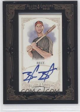 2012 Topps Allen & Ginter's Framed Mini Autographs #AGA-BB - Brandon Belt