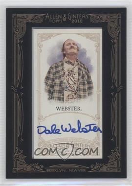 2012 Topps Allen & Ginter's Framed Mini Autographs #AGA-DW - Daniel Webb