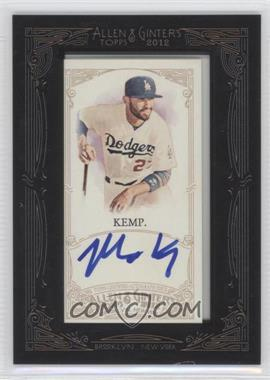 2012 Topps Allen & Ginter's Framed Mini Autographs #AGA-MK - Matt Kemp
