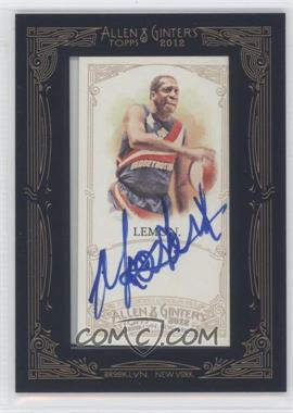 2012 Topps Allen & Ginter's Framed Mini Autographs #AGA-MLE - Meadowlark Lemon