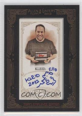 2012 Topps Allen & Ginter's Framed Mini Employee Autographs [Autographed] #EE-NK - Ned Klingensmith /10