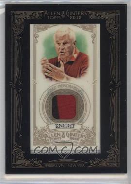 2012 Topps Allen & Ginter's Framed Mini Relics #AGR-BK - Bob Knight