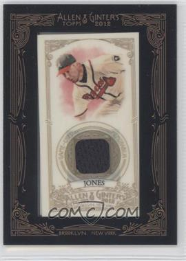 2012 Topps Allen & Ginter's Framed Mini Relics #AGR-CJ - Chipper Jones