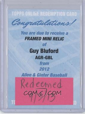 2012 Topps Allen & Ginter's Framed Mini Relics #AGR-GBL - Guy Bluford [REDEMPTION Being Redeemed]