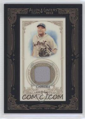 2012 Topps Allen & Ginter's Framed Mini Relics #AGR-MCB - Miguel Cabrera