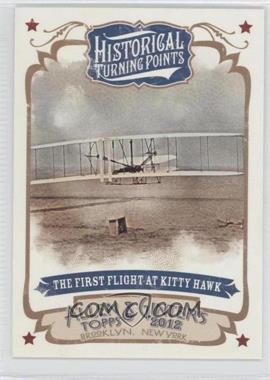 2012 Topps Allen & Ginter's Historical Turning Points #HTP15 - The First Flight of Kitty Hawk