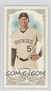 2012 Topps Allen & Ginter's Minis Red Allen & Ginter Baseball Back #148 - Carlos Gonzalez /25