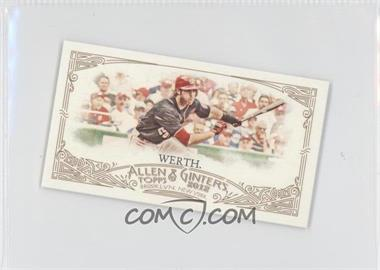 2012 Topps Allen & Ginter's Minis Red Allen & Ginter Baseball Back #302 - Jayson Werth /25