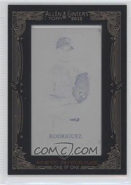 2012 Topps Allen & Ginter's Printing Plate Mini Black Framed #111 - Wandy Rodriguez /1
