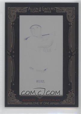 2012 Topps Allen & Ginter's Printing Plate Mini Black Framed #266 - Carlos Ruiz /1