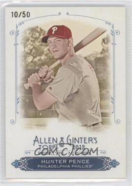 2012 Topps Allen & Ginter's Rip Cards Ripped #RC31 - Hunter Pence /50