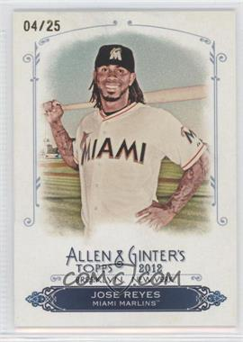 2012 Topps Allen & Ginter's Rip Cards Ripped #RC40 - Jose Reyes /25