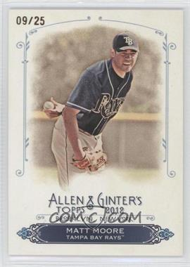 2012 Topps Allen & Ginter's Rip Cards Ripped #RC93 - Matt Moore /25