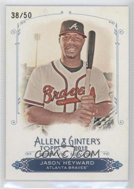 2012 Topps Allen & Ginter's Rip Cards Ripped #RCN/A - Jason Heyward /50