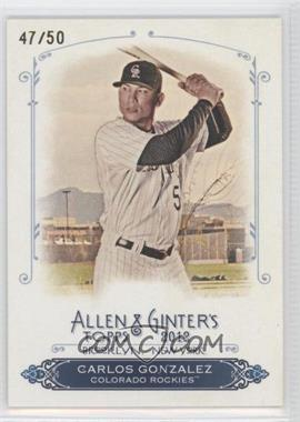 2012 Topps Allen & Ginter's Rip Cards #RC23 - Carlos Gonzalez /50
