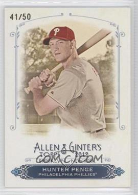 2012 Topps Allen & Ginter's Rip Cards #RC31 - Hunter Pence /50