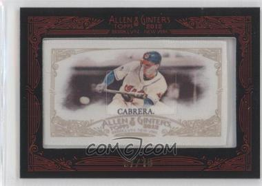 2012 Topps Allen & Ginter's Silk Mini Framed #N/A - Asdrubal Cabrera /10