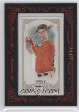 2012 Topps Allen & Ginter's Silk Mini Framed #N/A - Buster Posey /10