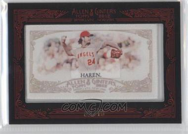 2012 Topps Allen & Ginter's Silk Mini Framed #N/A - Dan Haren /10