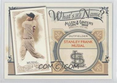 2012 Topps Allen & Ginter's What's in a Name? #WIN18 - Stan Musial