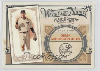 2012 Topps Allen & Ginter's What's in a Name? #WIN52 - Derek Jeter