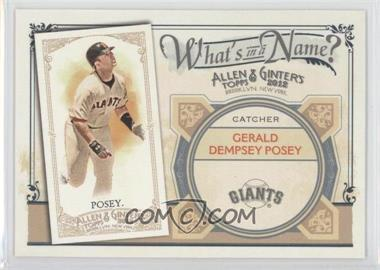 2012 Topps Allen & Ginter's What's in a Name? #WIN59 - Buster Posey
