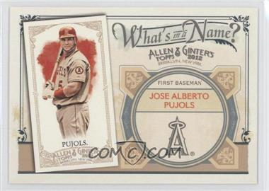 2012 Topps Allen & Ginter's What's in a Name? #WIN84 - Albert Pujols